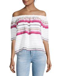 lemlem - Adia Striped Off-the-shoulder Top - Lyst
