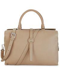 Loro Piana Poker Leather Top Handle Bag - Natural