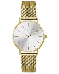 BCBGMAXAZRIA Classic Goldtone Braided Stainless Steel Bracelet Watch - Metallic