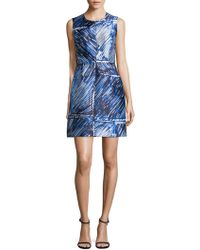 MILLY - Abstract A-line Dress - Lyst