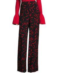 Diane von Furstenberg - Benton Printed Wide-leg Trousers - Lyst