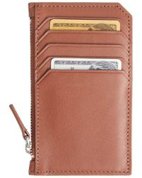 Royce - Zip Leather Credit Card Wallet - Lyst