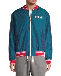 Fila Men's Skyler Logo Bomber Jacket - Pink - Size L