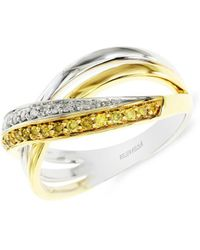 Effy - Canare 14k White And Yellow Gold Diamond Ring - Lyst