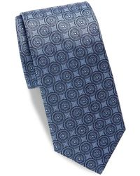 Saks Fifth Avenue - Medallion Print Silk Tie - Lyst