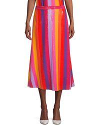 Olivia Rubin Penelope Sequin Skirt - Red