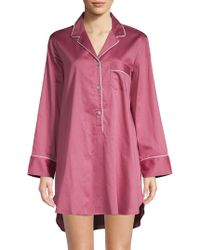 Natori - Notch Collar Cotton Sleepshirt - Lyst