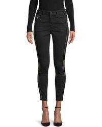 One Teaspoon High-rise Skinny Jeans - Black