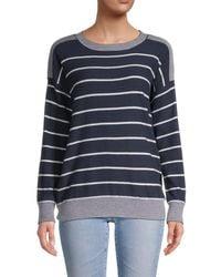 Olive & Oak Striped Pullover - Blue