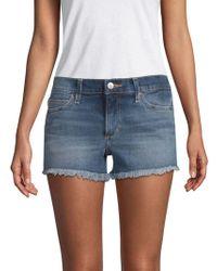 Joe's Jeans - Frayed-hem Denim Shorts - Lyst