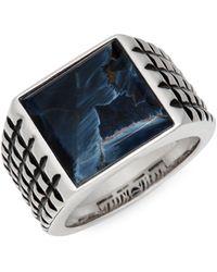 Effy Sterling Silver & Pietersite Ring - Multicolour