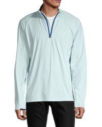 Greyson Men's Tate Half-zip Pullover - Julep - Size Xl - Blue
