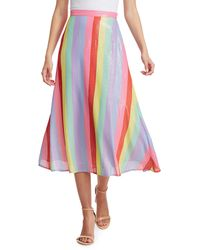 Olivia Rubin Penelope Sequin Rainbow Midi Skirt - Multicolour