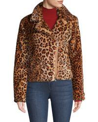 Rebecca Minkoff Women's Hudson Leopard Faux Calf Hair Jacket - Leopard Multi - Size S - Brown