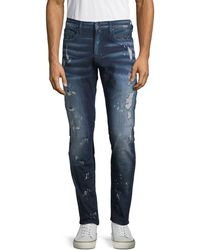 PRPS Paint-splatter Distressed Jeans - Blue