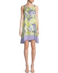 Max Studio - Printed Shift Dress - Lyst