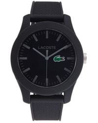 Lacoste Men's Resin, Stainless Steel & Silicone-strap Logo Watch - Black