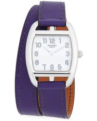 Hermès - Vintage Purple Cape Cod Gm Watch - Lyst