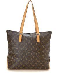 Louis Vuitton Cabas Mezzo Tote - Brown