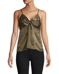 Endless Rose Twisted Camisole Top - Green
