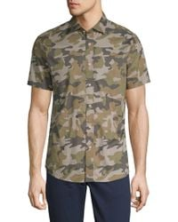 Slate & Stone - Camouflage Cotton Button-down Shirt - Lyst