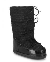 Love Moschino - Textured Logo Mid-calf Boots - Lyst