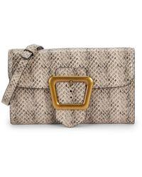 Sam Edelman Women's Slim Tessa Snake-embossed Leather Crossbody Bag - Sesame - Multicolor