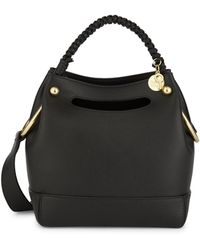 See By Chloé Mini Maddy Leather Hobo Bag - Black