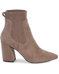 Steven New York Women's Newell Point-toe Sock Booties - Taupe - Size 10 - Brown