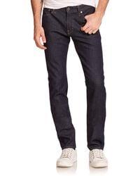 AG Jeans Graduate Slim Straight-fit Jeans - Blue