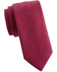 Charvet Classic Wool Tie - Red