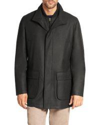 Saks Fifth Avenue - Wool Overcoat - Lyst