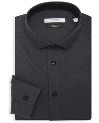 Versace Men's Textured Dress Shirt - White - Size 18 44