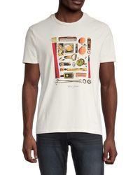 Ben Sherman Men's Festival Essentials Graphic T-shirt - Tofu - Size S - Multicolour