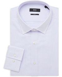 BOSS by Hugo Boss - Jenno Slim-fit Striped Dress Shirt - Lyst