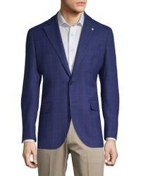 Lubiam - Windowpane Wool Jacket - Lyst