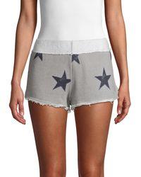 Free People Fleece Star Shorts - Gray