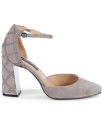 Karl Lagerfeld Gracyn Embellished Ankle-strap Suede Pumps - Multicolor