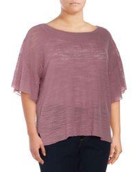 Love Scarlett Plus Ruffled Blouse - Purple