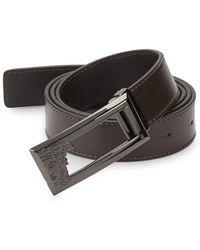 Versace - Logo Leather Belt - Lyst