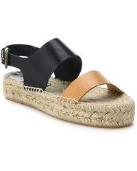 Soludos - Two-tone Leather Platform Espadrille Sandals - Lyst