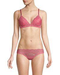 Samantha Chang Boudoir Triangle Bra - Pink