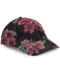 Collection 18 - Sparkle Floral Baseball Cap - Lyst