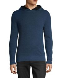 Saks Fifth Avenue Hooded Wool-blend Jumper - Blue
