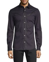 Valentino - Spread Collar Cotton Button-down Shirt - Lyst
