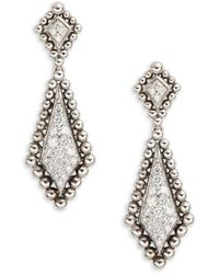 Lagos Sterling Silver & Diamond Drop Earrings - Metallic