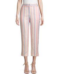 Rebecca Minkoff Stripe Linen & Cotton Blend Ginger Pants - Multicolor