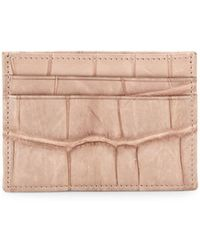 Valentino - Embossed Leather Card Holder - Lyst
