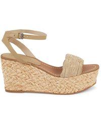 Splendid Women's Marlene Woven Platform Wedge Sandals - Dove - Size 10 - Multicolour