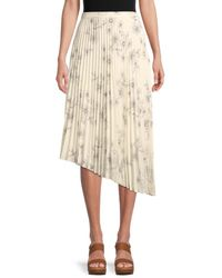 Sanctuary The Summer Pleated Long Skirt - Natural